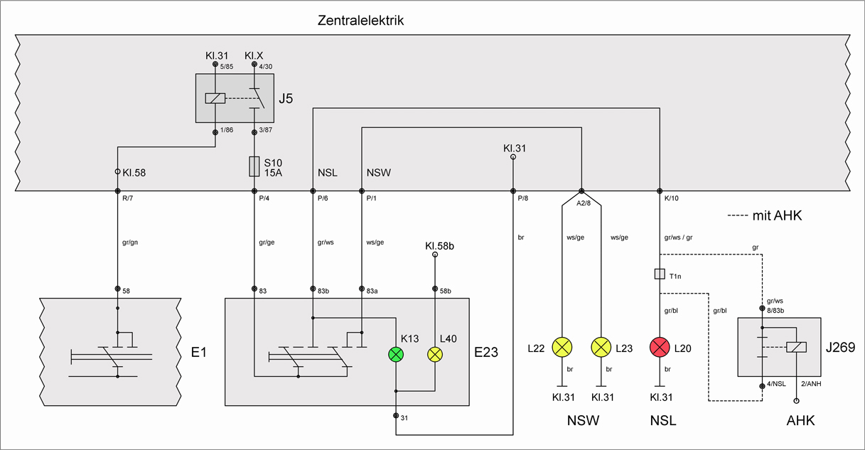 Relais J269 (abschaltbare Nebelschlussleuchte) – T4-Wiki