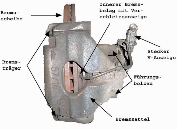 4 Stück Führungsbolzen Bremssattel Führungshülse Scheibenbremse Bremssystem ATE