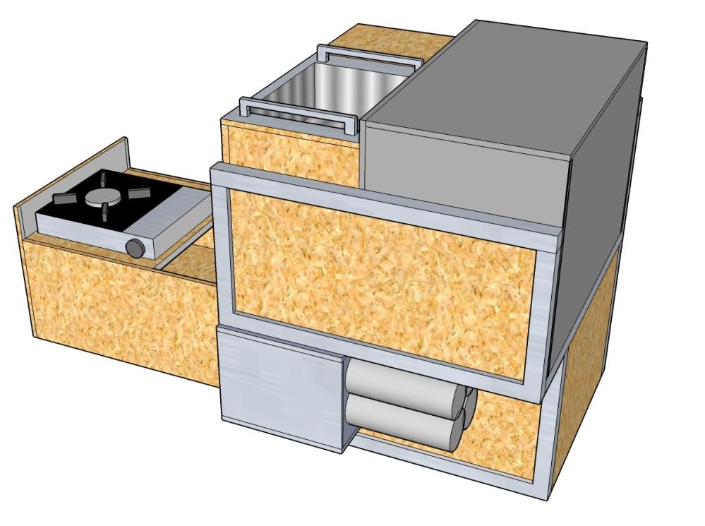 Küchenmodul – T4-Wiki | {Camping küchenblock selber bauen 49}