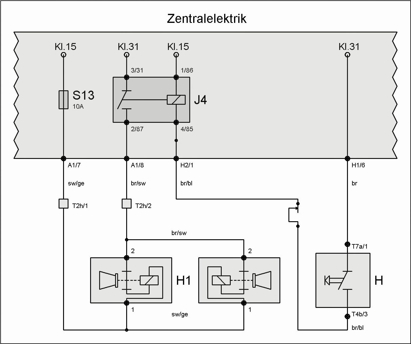 Ausgezeichnet Zug Horn Schaltplan Zeitgenössisch - Elektrische ...