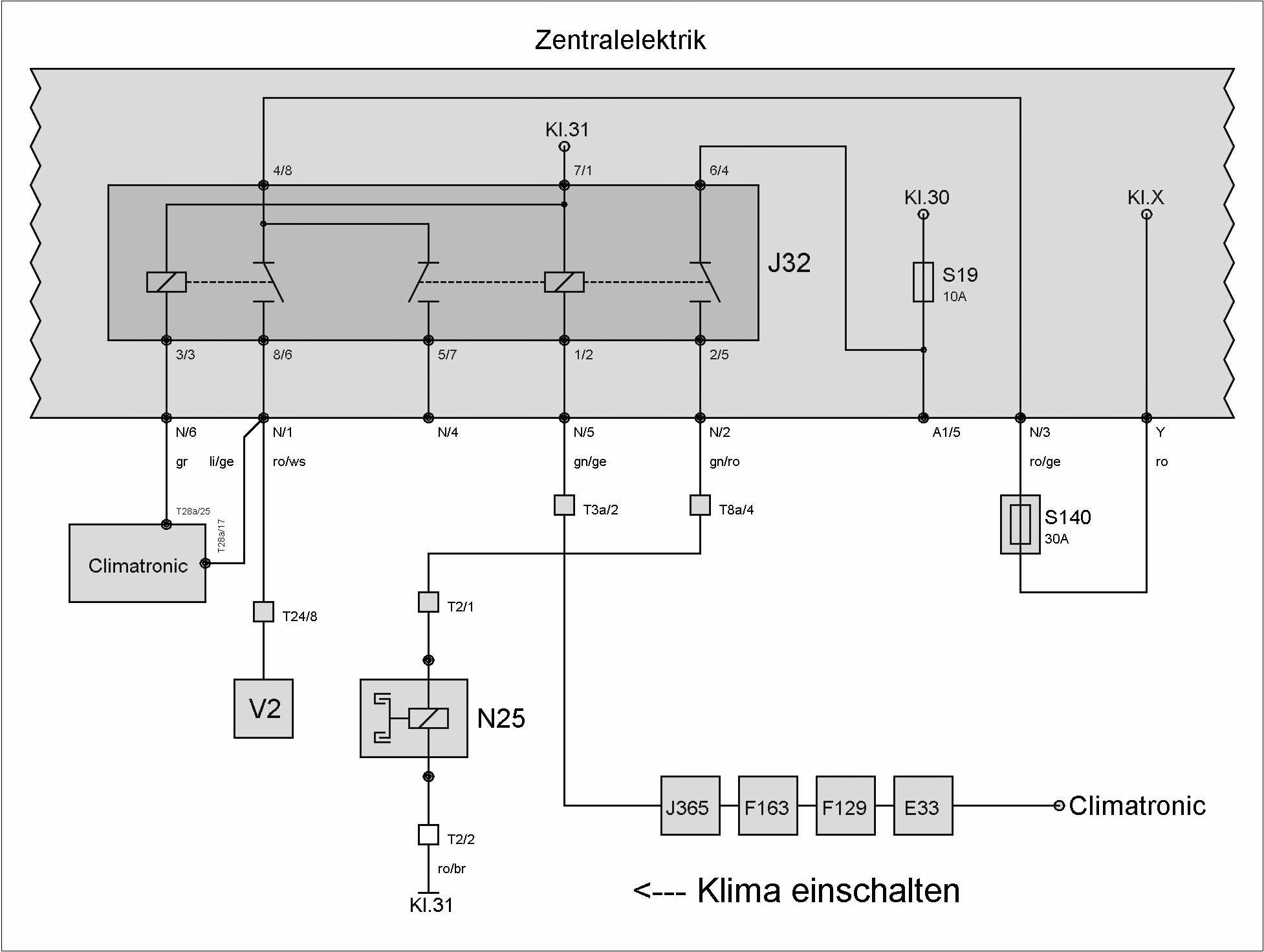Relais J32 (Klimaanlage) – T4-Wiki