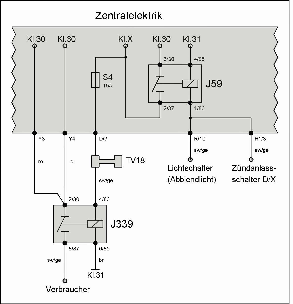 Relais J59 (Entlastungsrelais für X-Kontakt) – T4-Wiki