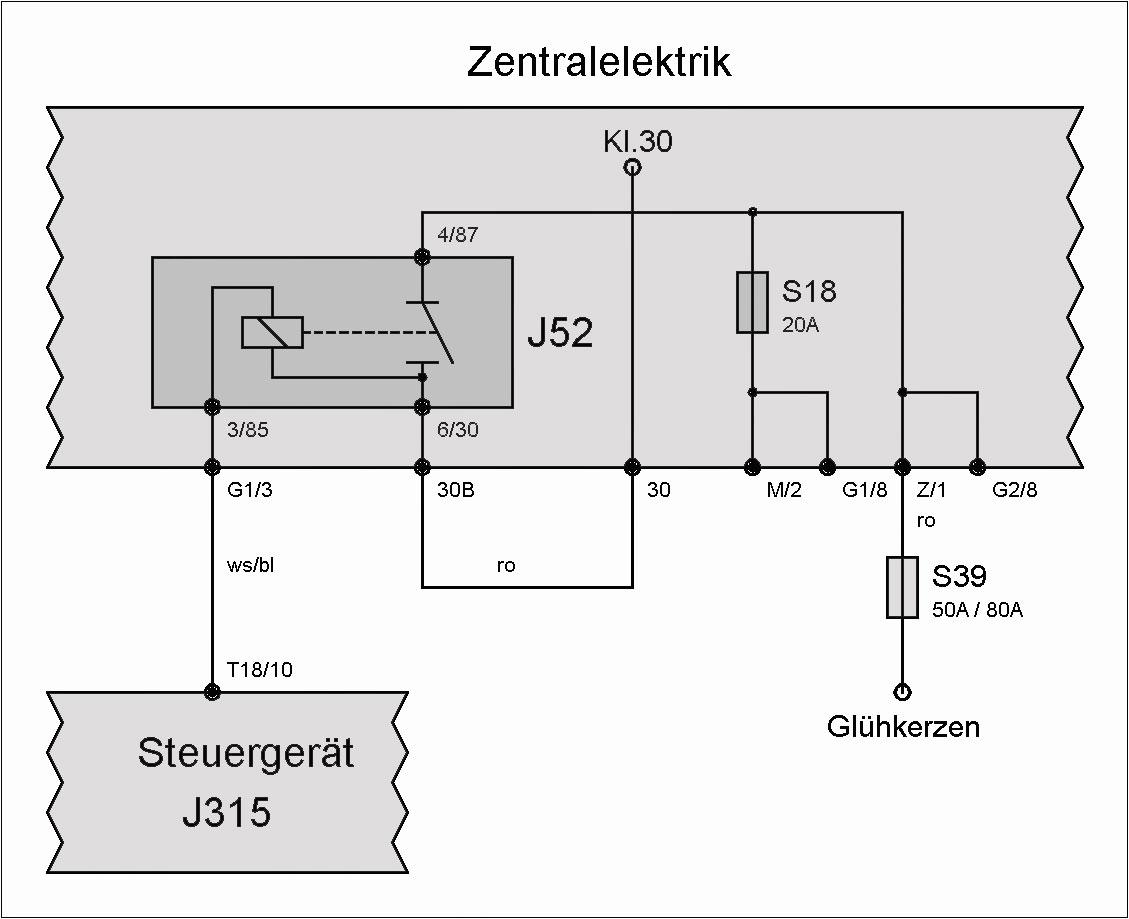 Relais J52 (Glühkerzen) – T4-Wiki