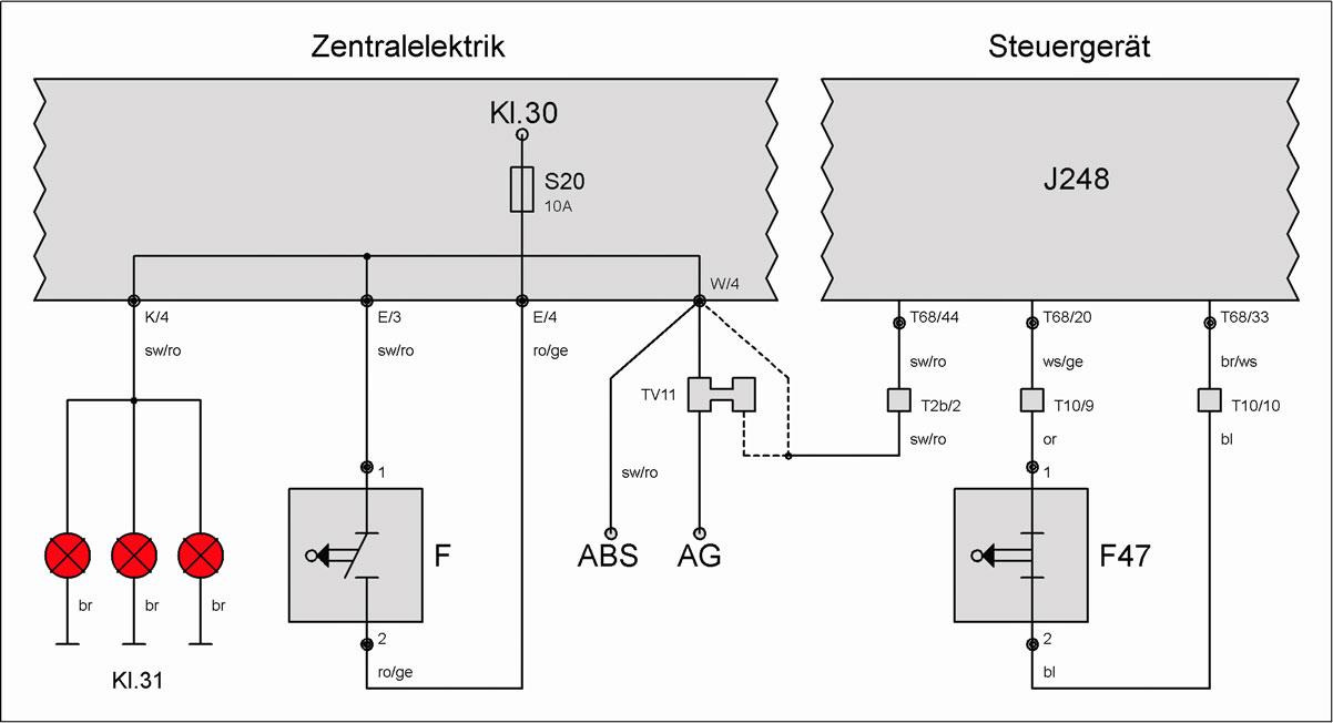 Schalter F (Bremslicht) – T4-Wiki