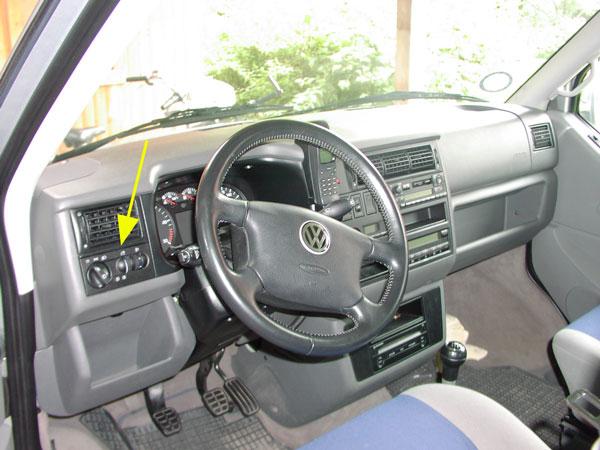Schalter Licht mit NSL ohne NSW mit grüner Beleuchtung VW T4 Lichtschalter