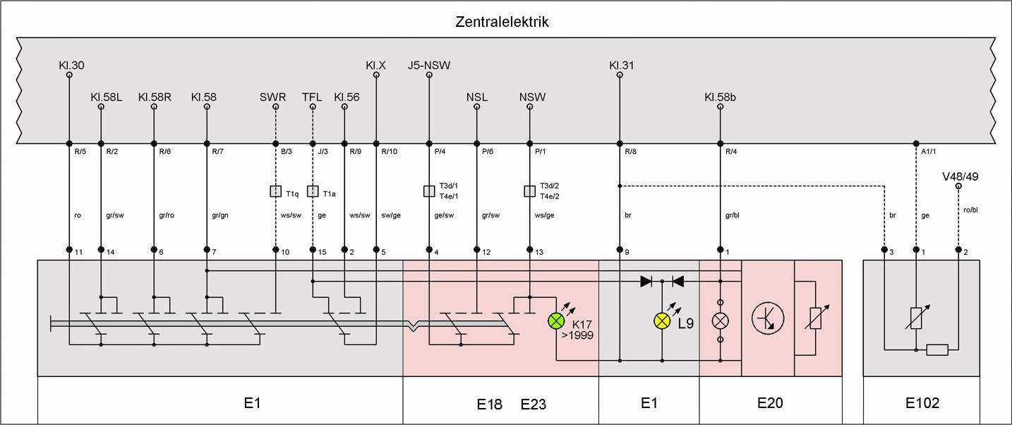 Instrumentenbeleuchtung – T4-Wiki