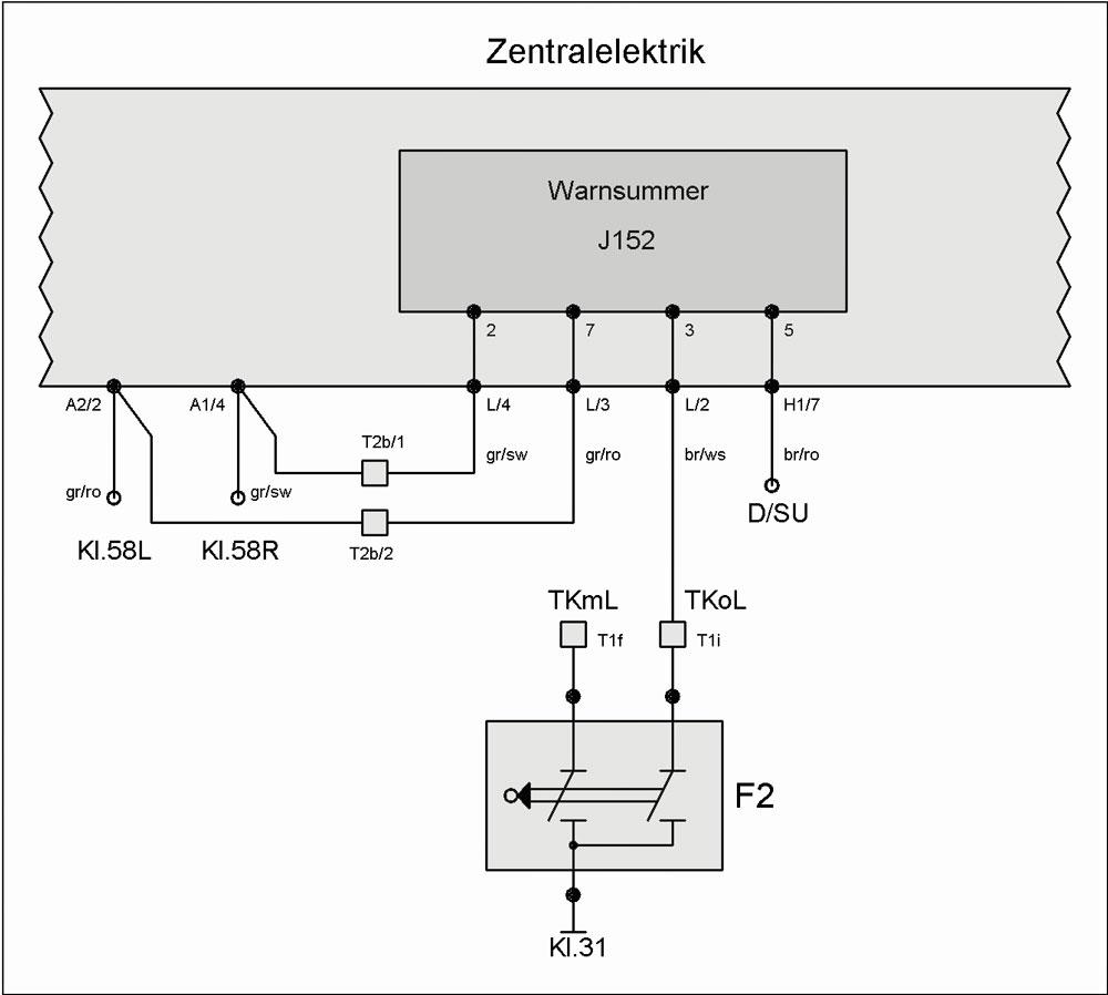 Warnsummer J152 (eingeschaltetes Licht) – T4-Wiki
