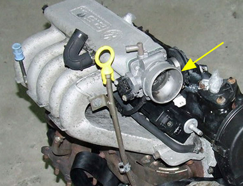 Einbauort 5-Zylindermotor (ACU)