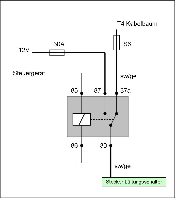 Groß 87a Relais Schaltplan Bilder - Elektrische Schaltplan-Ideen ...