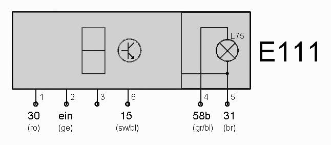 Schalter E111 (Vorwahluhr) – T4-Wiki